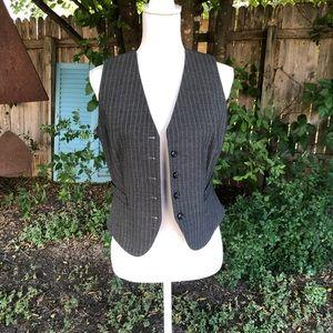 Tahari Arthur S. Levine Petite Pinstripe Vest